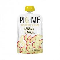 Purê de Frutas Pic-Me 100% Natural - Banana e Maça 100g