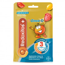 Redoxitos Vitamina C e D + Zinco Mix de Frutas 25 unidades