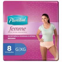 Fralda Plenitud Active Feminina G/XG com 8 Unidades