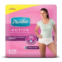 Roupa Íntima Active Mulher P/M com 8 Unidades