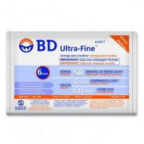 Seringa de Insulina BD Ultra-Fine 0,5x6mm 10 unidades