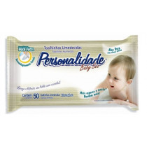 Toalhas Umedecidas Personalidade Baby 50 unidades