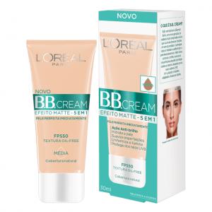 BB Cream 5 em 1 Efeito Matte FPS 50 L'oréal Média 30ml